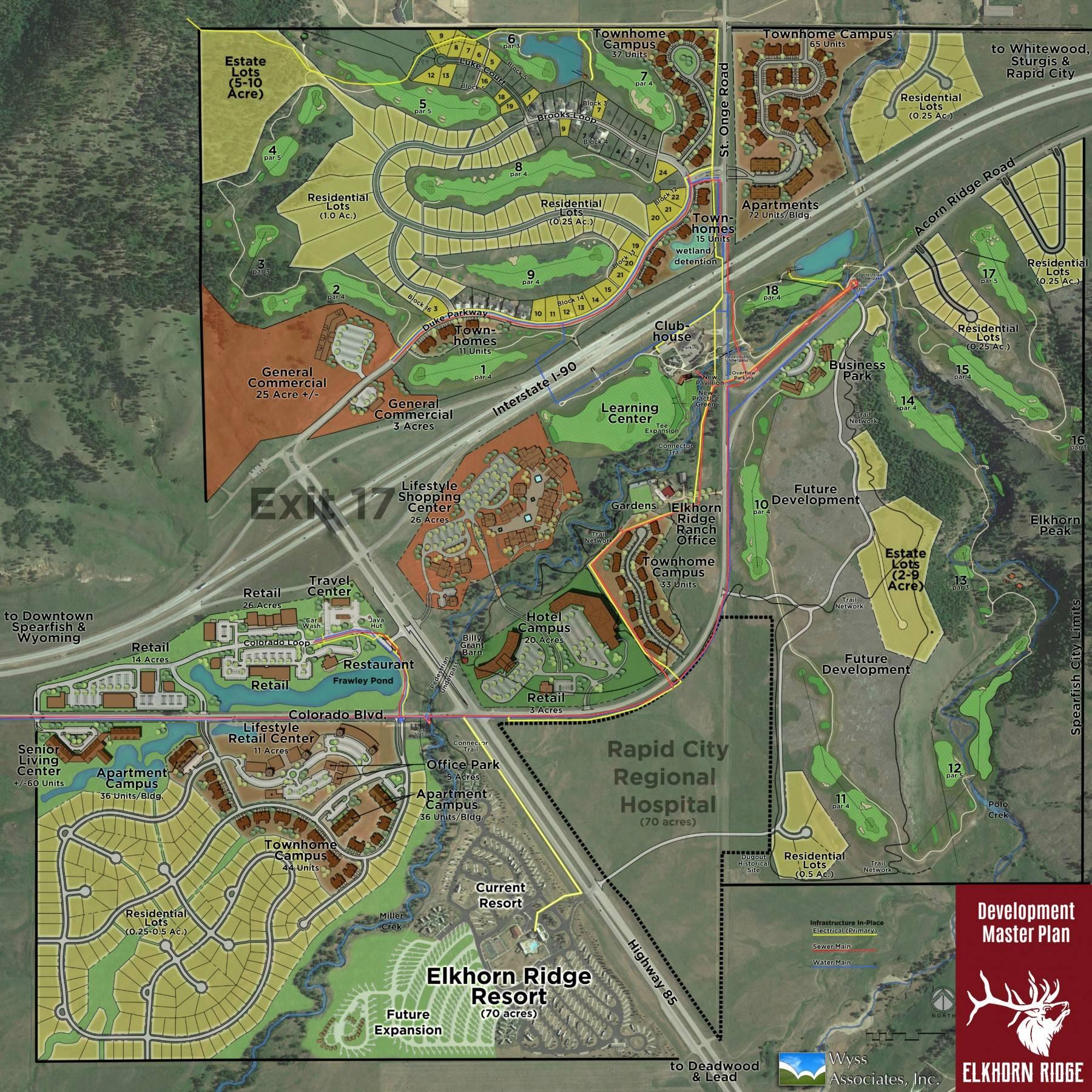 Elkhorn Ridge Development Master Plan Map