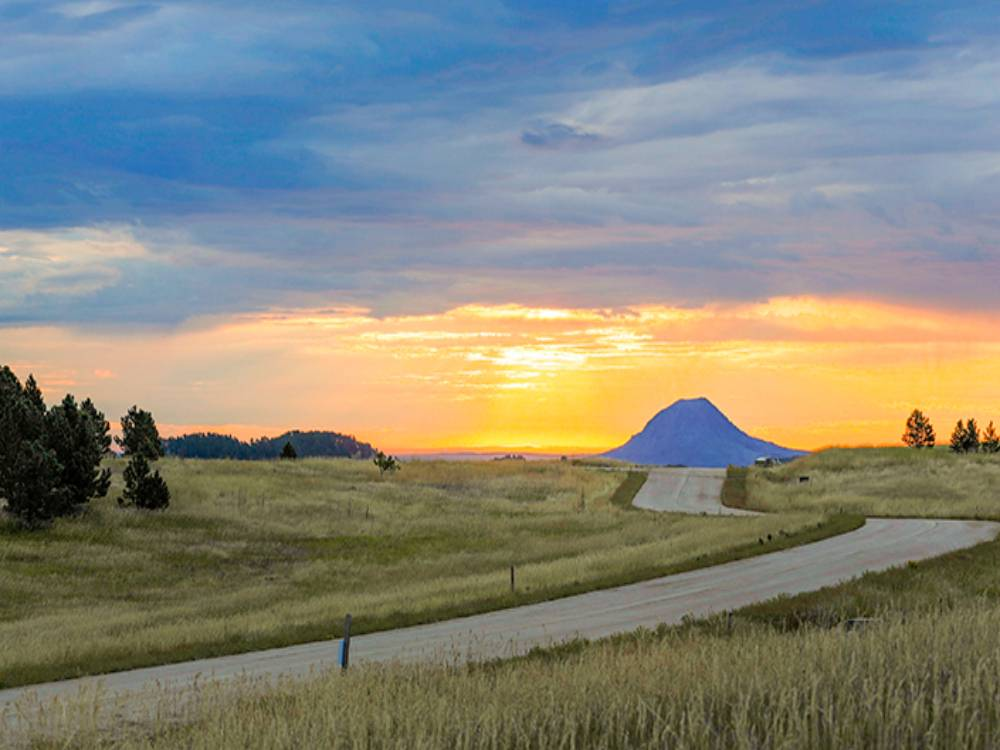View of Devil's Tower in the distance from Frawley Ranch Estates