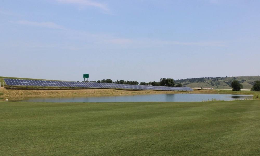 The new solar panels at Elkhorn Ridge Golf Club and Resort